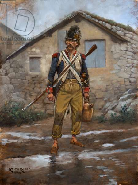 French Infantry Sergeant, 1796 , 2011 (oil on board)