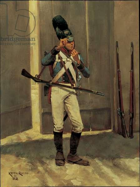 Fusilier: 13th Bavarian Infantry 1813, 2002 (oil on board)