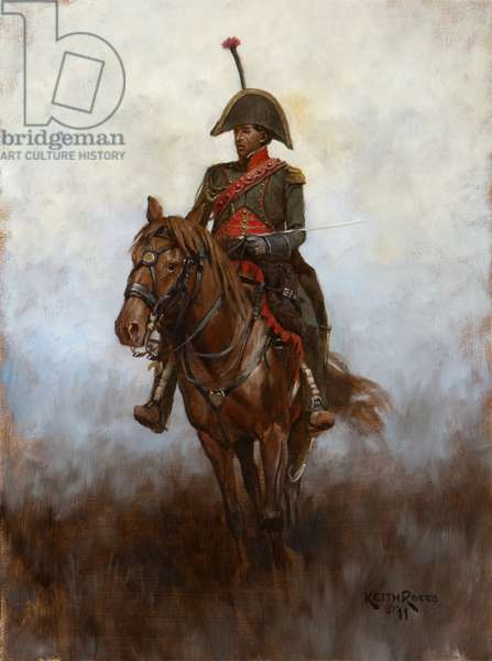 "Lieutenant ""Hercule"" Domingue, Guides of the Army of Italy, 1796, 2011 (oil on board)"