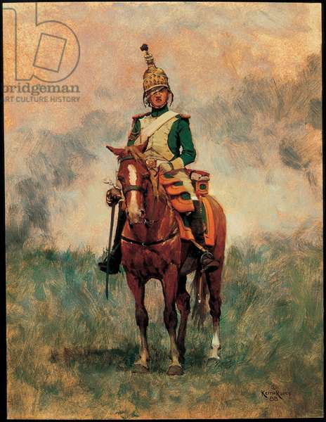 Trooper: Empress Dragoons of the Imperial Guard 1814, 1988 (oil on board)