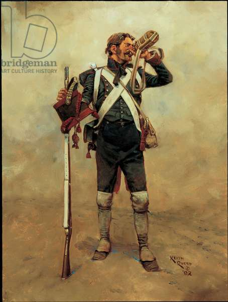 Gunner: French Foot Artillery 1809, 2002 (oil on board)