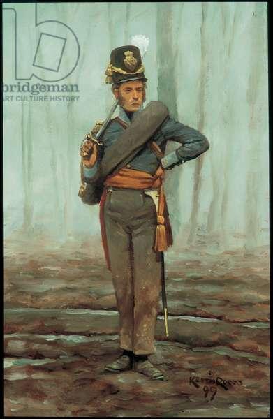 Officer: 7th Belgian Line Battalion 1815, 1999 (oil on board)