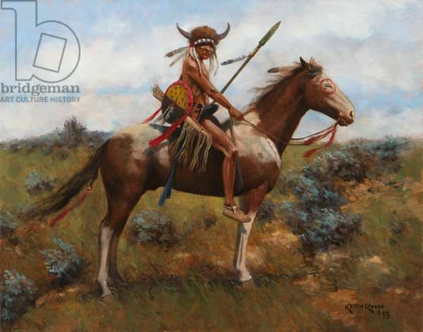 Plains Indian 1, 2013 (oil on board)