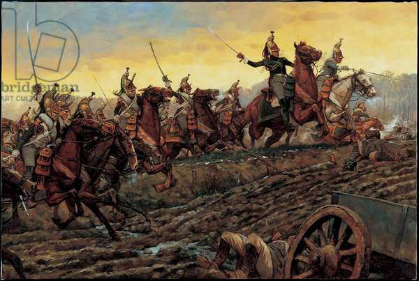 Attack of the Dragoons at Montmirail - 1814, 2003 (oil on linen)