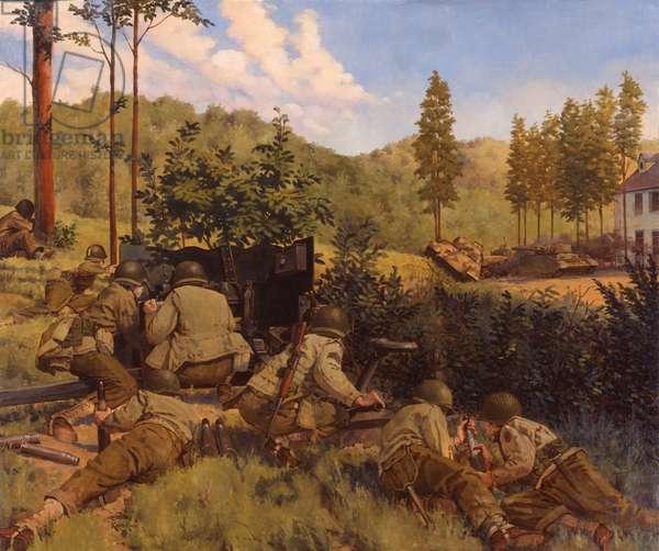 Mortain Normandy, 1944, 1989 (oil on linen)