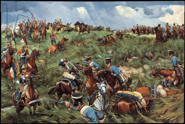 Victory in the Balance, Waterloo - 1815, 1991 (oil on linen)