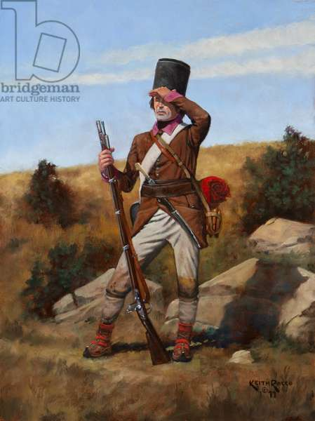 Austrian Grenzer, Carlstadt District (combined) Battalion, 1796, 2011 (oil on board)