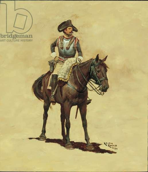 Trooper: 8th Cavalry Regiment, 1796, 2001 (oil on board)