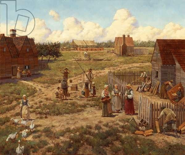 Jamestown 1630s (#2), 1997 (oil on linen)