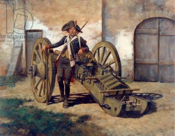 French Foot Artillery, 2011 (oil on board)