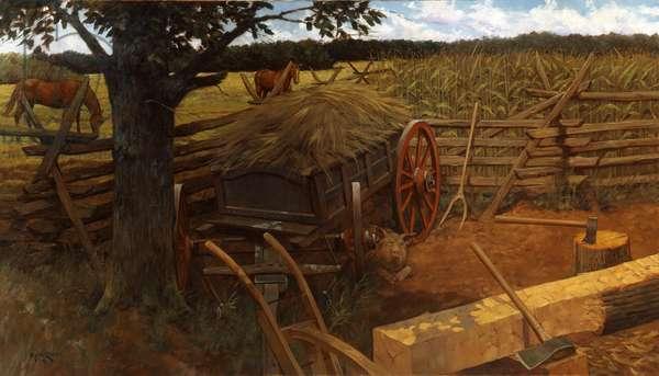 Rural Life 18-19th Century , 2001 (oil on linen)