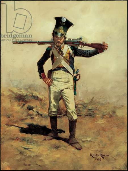 Voltigeur: 4th Grand Duchy of Warsaw Infantry 1808, 2004 (oil on board)