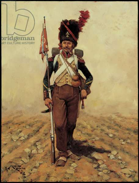 The 65th Line Infantry Regiment 1809, 2002 (oil on board)