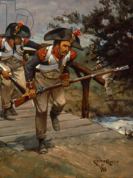 French Infantry Grenadiers, 1796, 1998 (oil on board)