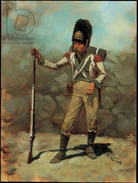 Grenadier: 6th Line Infantry, Kingdom of Holland 1810, 2005 (oil on board)