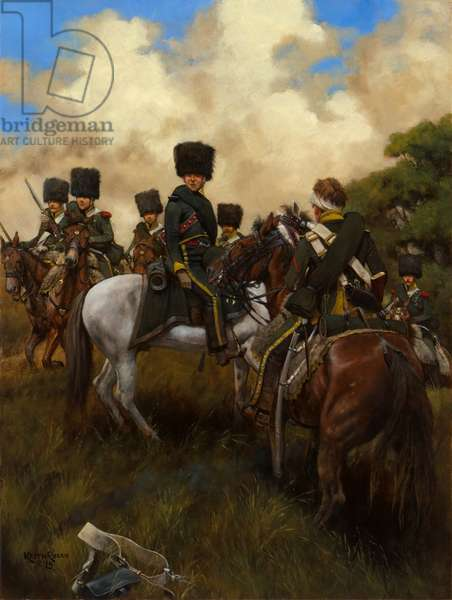 6e Chasseurs a Cheval 1815, 2015 (oil on board)