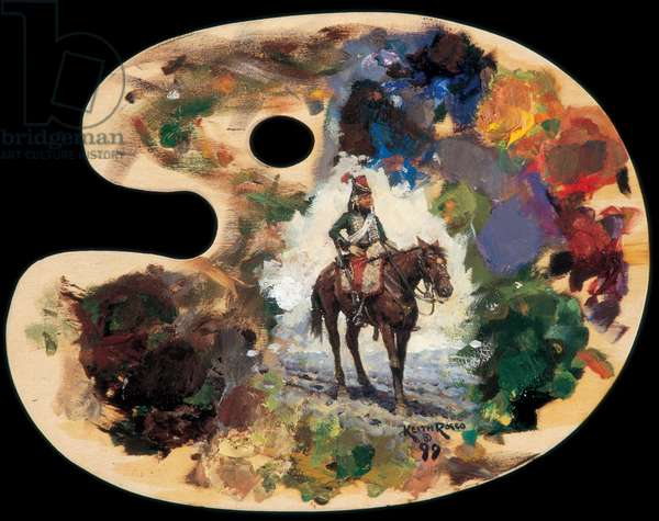 Palette, 9th Hussar, 1999 (oil on board)