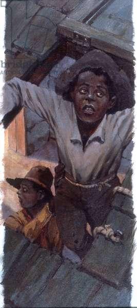 Underground Railroad #2, 1984 (oil on board)