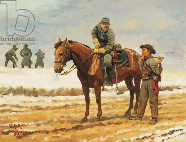 Confederate Artillery and Infantry Officers 1862, 1995 (oil on board)