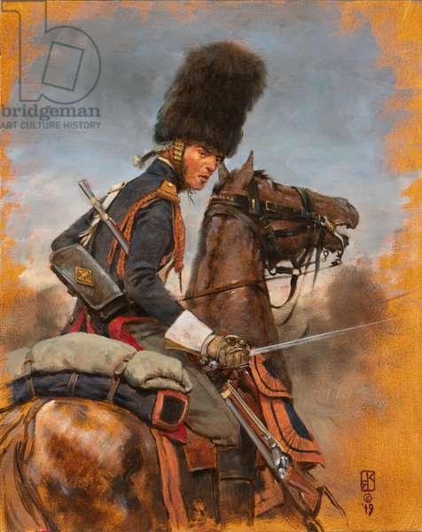 Grenadier a Cheval-Garde 1814 Study, 2019 (oil on board)