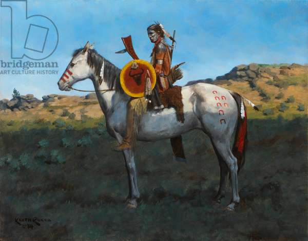 Plains Indian 2, 2014 (oil on board)