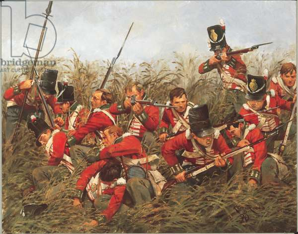 The Lincolnshires - 1815, 1990 (oil on linen)