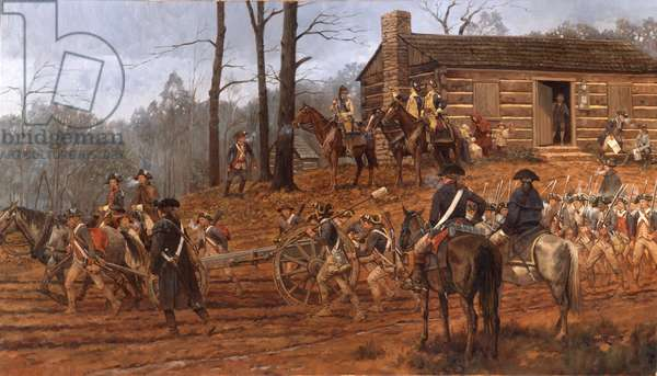 Guilford Courthouse, General Greene's Army, 2001 (oil on linen)