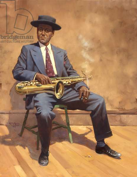 Lester Young, 1999 (oil on linen)