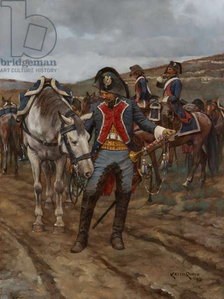 Trumpeter, French Line Cavalry, 1796, 2010 (oil on board)