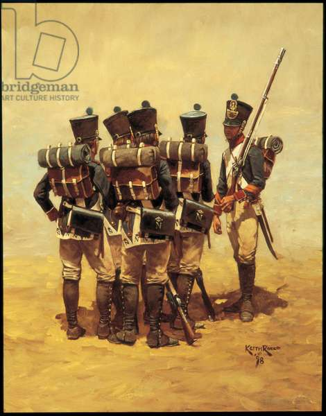French Line Fusiliers (Bardin's Regulation) 1812, 1998 (oil on linen)