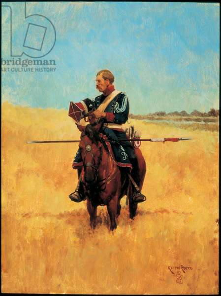 Trooper: Polish Lancer of the Imperial Guard 1809, 1989 (oil on board)