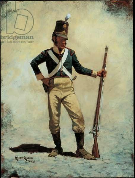 Private: 14th Portuguese Line Infantry 1810, 2005 (oil on board)