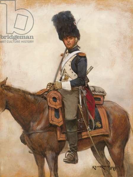 Grenadier a Cheval-Garde 1814 , 2019 (oil on board)