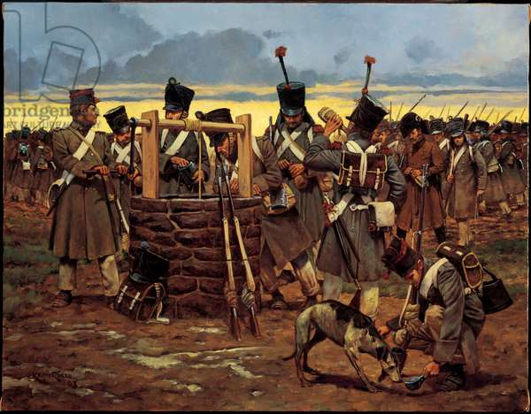 At the Well - 1813, 2003 (oil on linen)