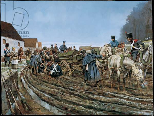 The Road to Sezanne - 1814, 2005 (oil on linen)