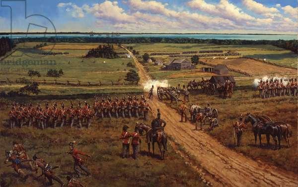 Battle of Fort Mackinaw, 1997 (oil on linen)