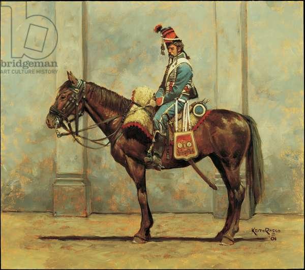 Trooper: 1st Hussars, 1797, 2001 (oil on board)