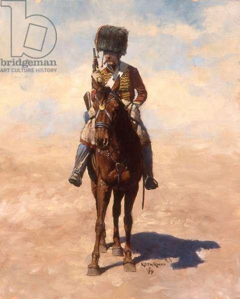 Elite Company, 9th Hussars, 1807, 1999 (oil on linen)