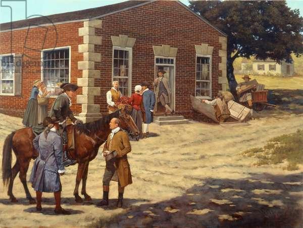 Lewis Store Fredericksburg, 2008 (oil on linen)