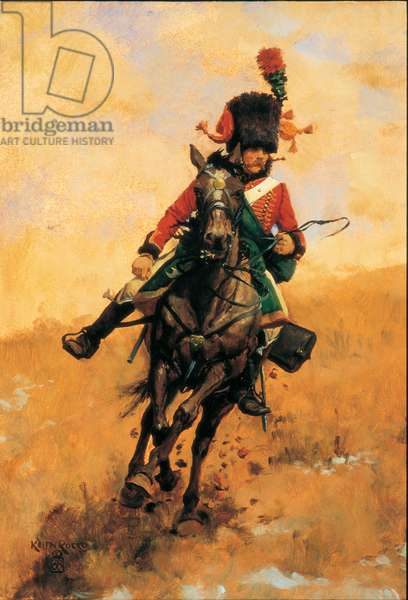 Chasseur a Cheval of the Guard, 1988 (oil on board)