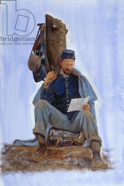 Pea Ridge - Soldier Letter, 2009 (oil on linen)