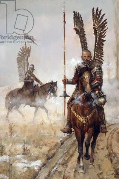 Polish Winged Hussars #1, 1986 (oil on linen)