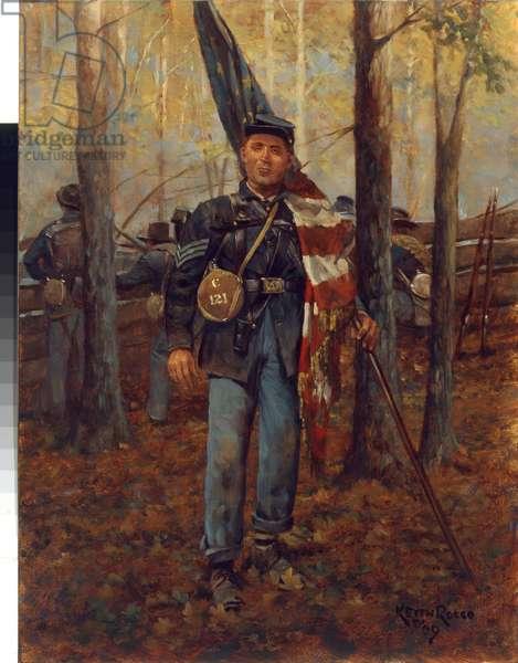 Sergeant Daniel Duvall, 121st Ohio 1863, 2009 (oil on board)