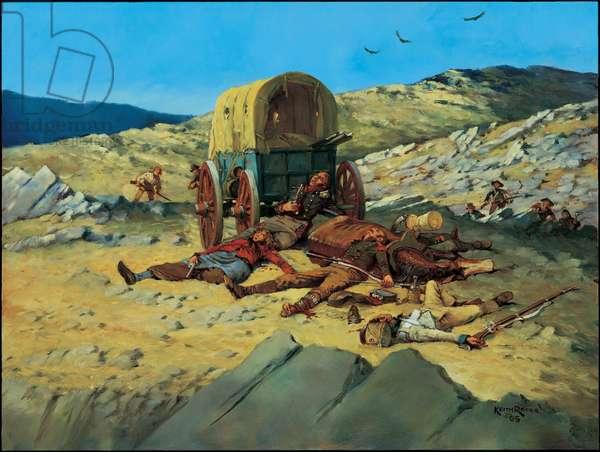 Spain, The Last Cartridge - 1810, 2005 (oil on board)