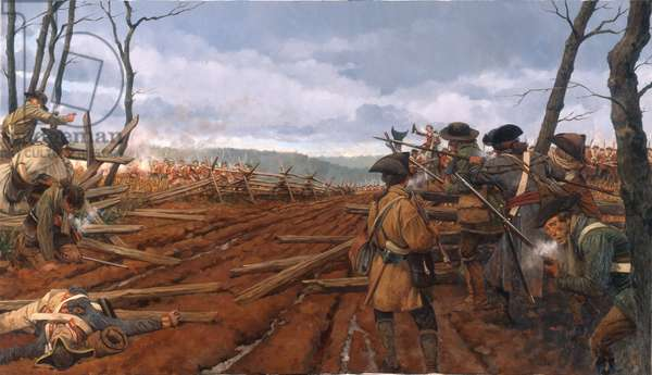 Guilford Courthouse, British Attack , 2001 (oil on linen)
