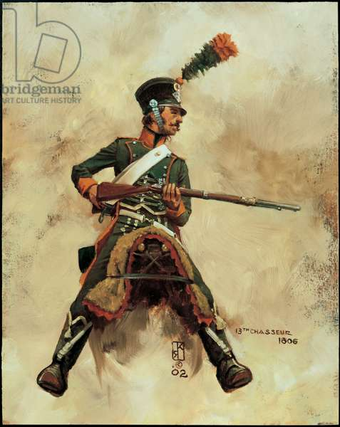 Trooper: 13th Chasseurs a Cheval 1806, 2002 (oil on board)