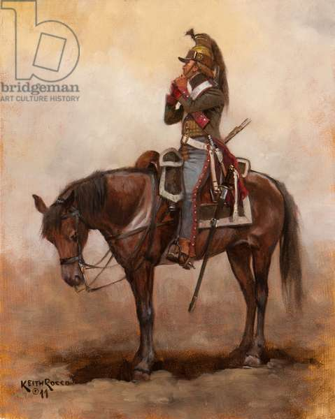 French Dragoons 5th Regiment, 1796, 2011 (oil on board)