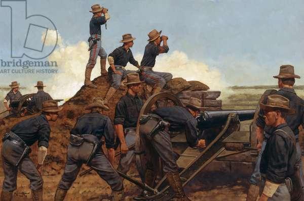 Utah Battery, Phillipines 1898, 2001 (oil on linen)