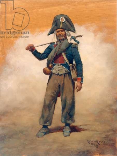 Officer 2eme Regiment Suisse 1808, 2008 (oil on board)