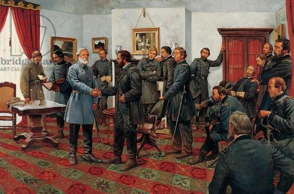 The Surrender 1865, 2001 (oil on linen)